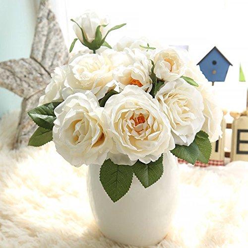 Hniunew Möbel KüNstliche BlumensträUßE Online Topfpflanzen KüNstliche Blume Real Touch Bridal Wedding Bouquet Home Decor Kunstblumen Hortensien Immerpflanze Kunstblume Dekopflanze KüNstlich Deko