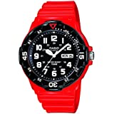 Casio  Casio Collection men - Reloj de cuarzo para hombre, con correa de resina, color rojo