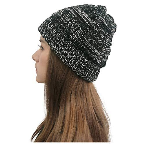 Elektrischer Wintermütze, warm, Strickmütze, für Männer und Frauen, Hip-Hop Ski, Stretch, Strickmütze, für Erwachsene, Unisex, Weihnachtsgeschenk Taille unique dunkelgrau -