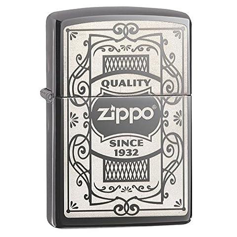 Officiellement agréée qualité Logo classique Black Ice Zippo briquet