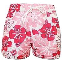 A-Express Pink Floral Flower Summer Beach Shorts Size 14-16