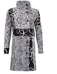 Sehr schöner Damen Luxus Winter Patchwork Mantel Trenchcoat 34 36 38 40 42 44 45 in 12 Designs
