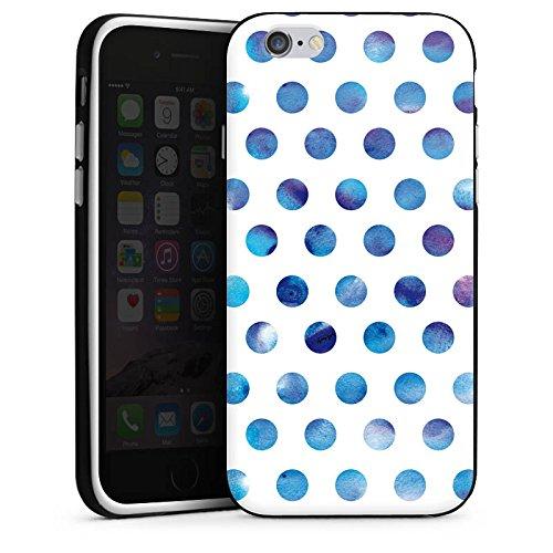 Apple iPhone X Silikon Hülle Case Schutzhülle Punkte Dots Wasserfarbe Silikon Case schwarz / weiß