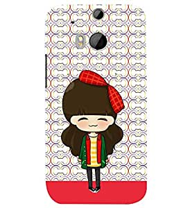 PRINTSWAG CARTOON GIRL Designer Back Cover Case for HTC ONE M8