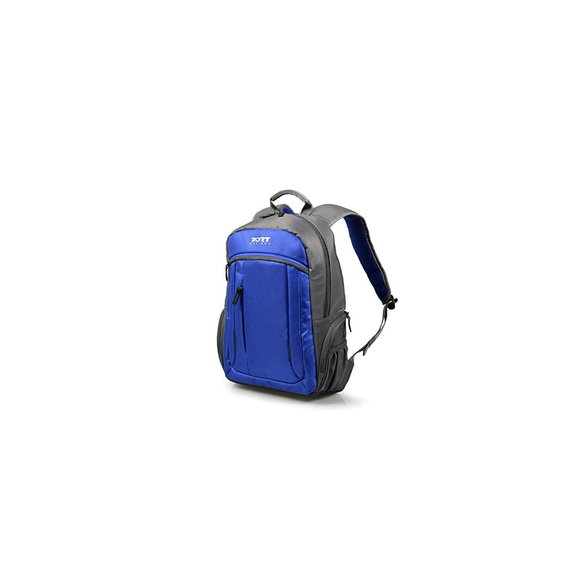 "51qFD1L XDL. SS1200  - Port Designs VALMOREL Mochila Nylon, Poliéster Azul - Mochila para portátiles y netbooks (Nylon, Poliéster, Azul, 39,6 cm (15.6""), Cremallera, 820 g, 385 x 260 x 35 mm)"