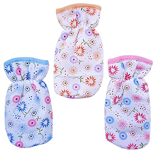 Littly Floral Print Bottle Covers Combo, Pack of 3