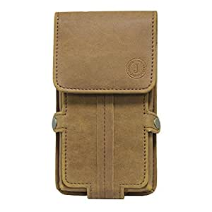 Jo Jo A6 Nillofer Series Leather Pouch Holster Case For Nexus 6p Tan