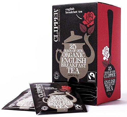 Clipper Organic English Breakfast Tea Infusions Tasche 6 Boxen von 25