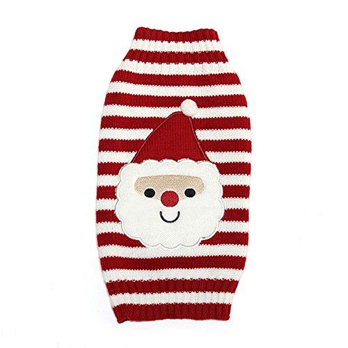 Moolecole Haustier Hund Weihnachtsmann Overall Kostüm Welpen Katze Weihnachten Party Cosplay Pullover