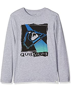 Quiksilver Classic Hot Spot Camiseta, Niño, Highrise/Heather, XS