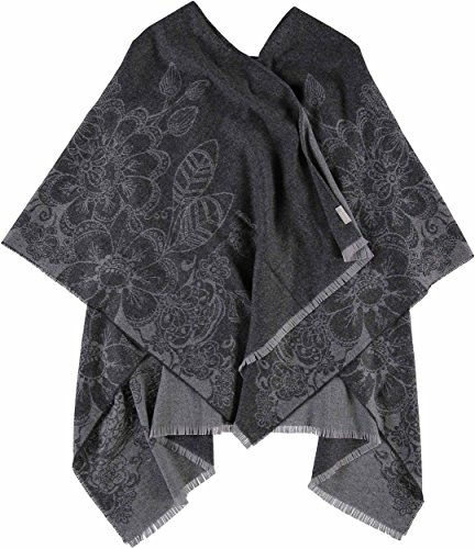 FRAAS - Poncho - Floreale - donna Anthrazit