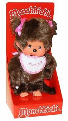 Muñeca Monchhichi con babero (20 cm), color rosa 255550
