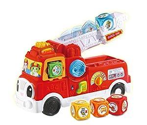 LeapFrog - Bloques de Bomberos para bebé, Juguete Educativo Interactivo para niños de 18 Meses, 2 a 3 años de Edad