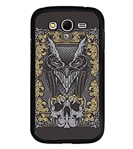 Fuson Premium 2D Back Case Cover Devil With Brown Background Degined For Samsung Galaxy Grand Neo::Samsung Galaxy Grand Neo i9060