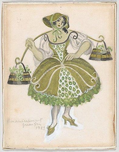 Juan Gris – Costume Design for The Shepherdess (Les Tentations de la Berger) Kunstdruck (45,72 x 60,96 ()