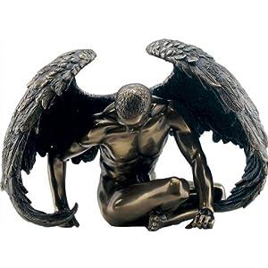 51qFIelhZ1L. SS300  - Bronze Effect Male Angel Figurine 20 cm