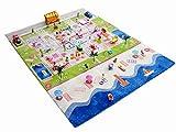 Little Helper 121MD035TR134180 IVI Hypoallergener Dicker 3D-Kinderspielteppich, 134 x 180 cm, mehrfarbig mit türkisfarbenem Meer