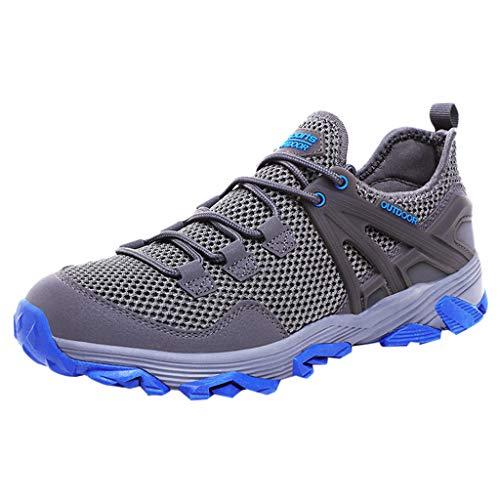 ODRD Männer Schuhe Herren Shoes Freizeit Net Surface Flat Running Freizeitschuhe Rutschfeste Atmungsaktive Turnschuhe Worker Boots Laufschuhe Combat Hallenschuhe Wanderschuhe Sports