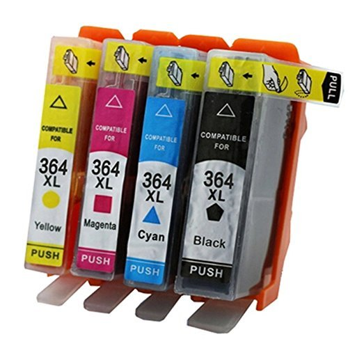 AmazInk - Set di 4 cartucce d'inchiostro compatibili HP364XL per stampanti HP Deskjet 3070, 3520, 3524, Photosmart B010, B109, B110, 5510, 5512, 5514, 5515, 5520, 5524, 7520