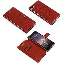 """Prevoa ® 丨 Original Flip Funda Cover para Xiaom Mi3 Mi3S 5.0"""" Smartphone - - 6"""