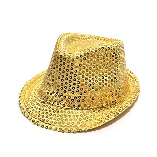 Fashion chapeau panama avec paillettes d'enfants pour la fête(Gold)