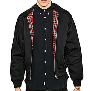 Classic Harrington Jacket, Tartan Lining, Metal Zips, Cotton-Mix