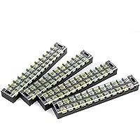 Suyep - Tira de 12 posiciones de doble fila, 600 V, 45 A, para terminales de barrera TB-4512