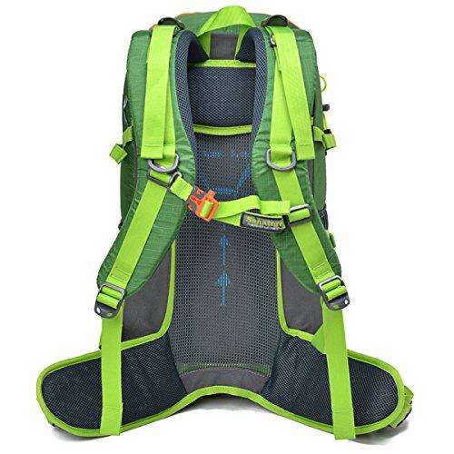 Outdoor Wasserdicht Rucksack Nylon Abriebfest Wandern Tasche Green