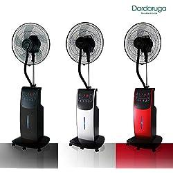 Dardaruga WFD - Ventilateur numérique avec pulvérisateur à eau argent