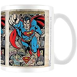 """DC Originals """"Superman rejilla"""" taza de cerámica"""