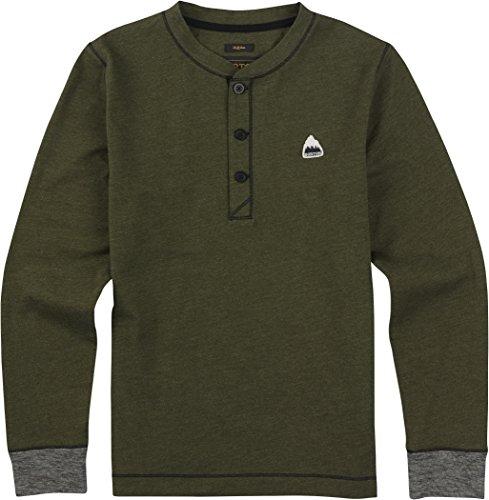 burton-luca-henley-t-shirt-da-ragazzo-ragazzo-t-shirt-luca-henley-olive-night-heather-16-18-jahre-xl