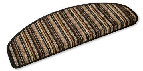 Ypsilon GmbH Stripes Tapis d'escalier semi-circulaire 65 x 23 x 4 cm anthracite
