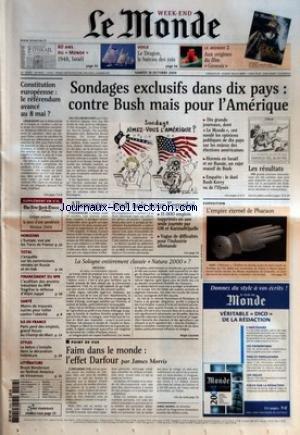 MONDE (LE) [No 18576] du 16/10/2004 - 60 ANS DU MO...