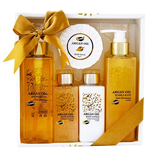 Bath Gift Set - Argan Oil, Coffret Cadeau-Coffret de ba