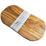 Naturally Med - Tabla para cortar o usar como bandeja, madera de olivo, 35 cm