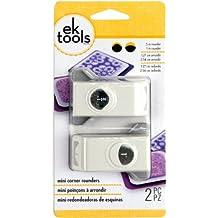 EK ToolsTM - Perforadoras de esquinas (1,27 y 2,54 cm, con cierre para ahorrar espacio)