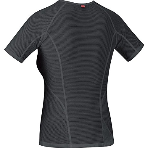 GORE BIKE WEAR Femme Sous-vêtement, maillot à manches courtes, Respirant, GORE Selected Fabrics, BASE LAYER, USHIRW Nero