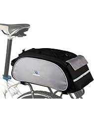 ROSWHEEL ciclismo deportes al aire libre bicicleta marco accesorio de mochila multifuncional asiento carga bolsa 13L, negro