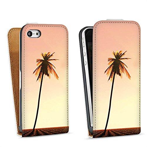 Apple iPhone 4 Housse Étui Silicone Coque Protection Palmiers Vacances Soleil Sac Downflip blanc