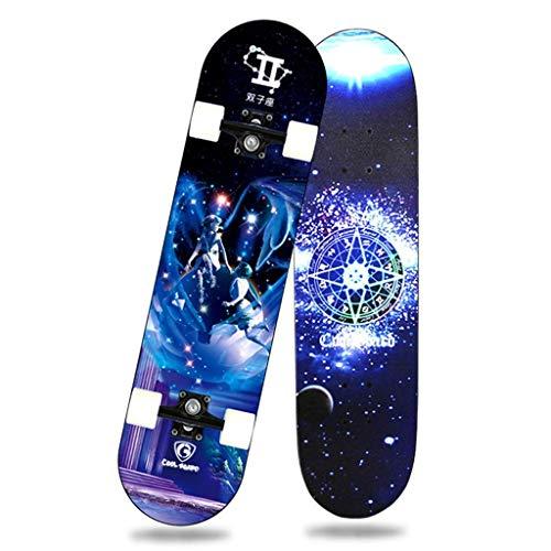 8bayfa Skateboard Deck, Erwachsene Kinder Skateboard, Komplettboard mit ABEC-7 Lager 7-lagigen Maple Deck, 31 x 8 x 4 lnches for Anfänger und Profis Universal-Autobahn Straße Scooter (Color : B)