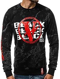 a63e2b75cb1c28 OZONEE Herren Pullover Sweatshirt Langarmshirt Sweatjacke Motiv Sweats  Aufdruck Pulli J.Style DD08