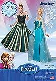 Simplicity Damen Schnittmuster 1215Disney Frozen Elsa Ice Princess Kostüme