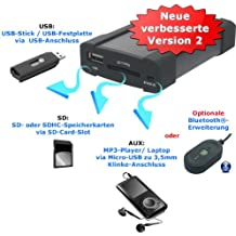 XCarLink 2 USB Adaptador SD AUX MP3 - Mazda 2 3 5 6 Miata MX5 monovolumen Premacy RX8 CX7