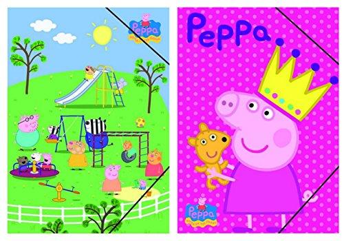 Peppa Pig - Carpeta de carton de gomas de Minnie