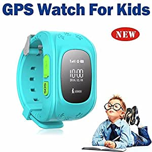 Jiyanshi Children Bluetooth Smart Watch (Blue)with Functions like GPSTracker/Emergency Alarm/Voice Massage/Remote Power Off Compatible for Samsung Galaxy A3