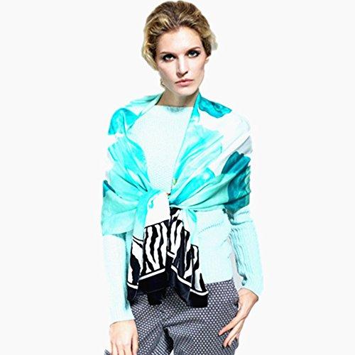 meet you Damen Schal blau blau Large Gr. Large, Light-Blue -