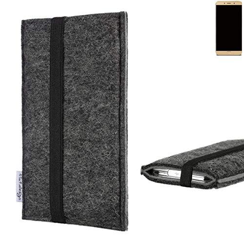 flat.design Handyhülle Lagoa für Allview X4 Soul Lite | Farbe: anthrazit/grau | Smartphone-Tasche aus Filz | Handy Schutzhülle| Handytasche Made in Germany
