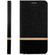 Coque Samsung Galaxy A3 (2016) [zanasta] Housse Etui Ultra Mince Case Flip Cover avec Poche intérieur Wallet Haute qualité Noir