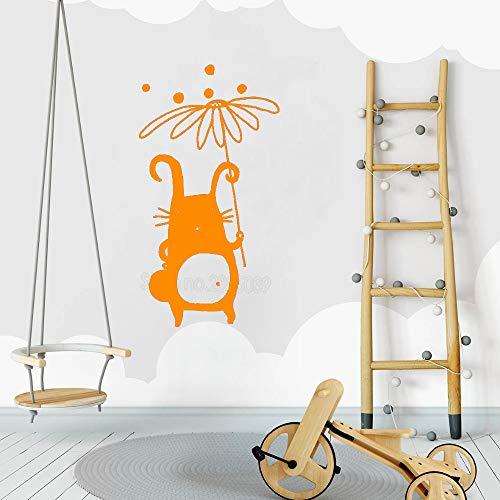 jiushizq Lindo Personaje calcomanía bebé vivero calcomanías de Pared Vinilo Monocromo diseño Mural Impermeable Cartel decoración Interior Pegatinas de Pared l 4 42 cm x 78 cm