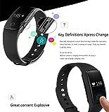 FANCY CHERRY® Bluetooth Smart Armband, Schrittzähler, Fitnessarmband mit Herzfrequenzmesser, Fernbedienungskamera, Schlafanalyse - 4